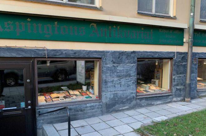 Aspingtons antikvariat stänger sommaren 2020 eftersom det saknas en efterträdare. Foto: Mats Aspington