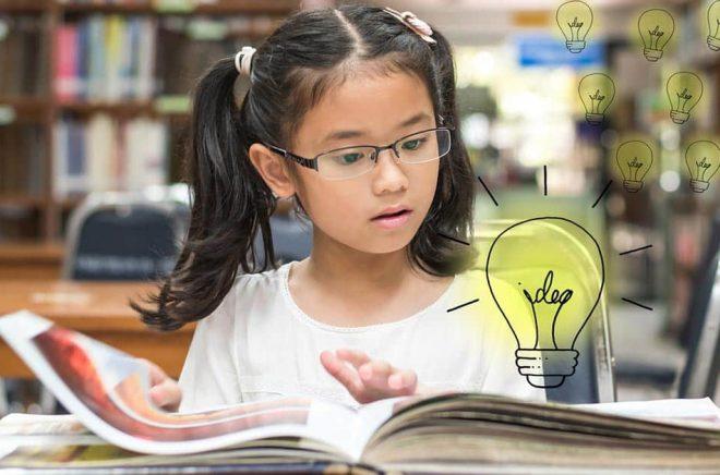 Att läsa föder idéer. Ska man få barn att läsa och fortsätta hela livet måste man sälja in äventyret som väntar på sidorna. Undersökningar om läsning är inte helt lätta att tolka. Minskar bokläsandet lika mycket som tidningsläsandet? Foto: iStock.