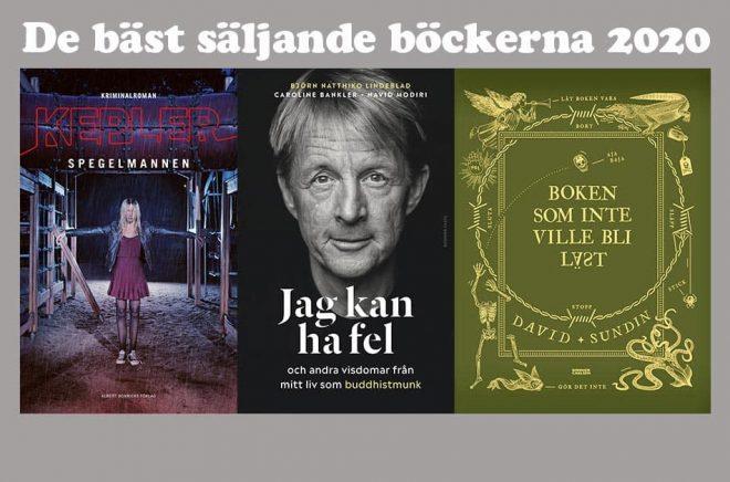 Tre bästsäljare från Bonnierförlagen toppar listorna över de mest sålda böckerna 2020.
