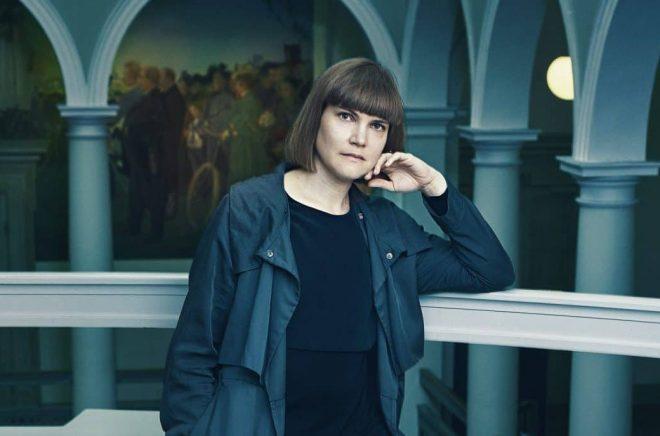 Författaren Sara Bergmark Elfgren 2017. Foto: Henric Lindsten
