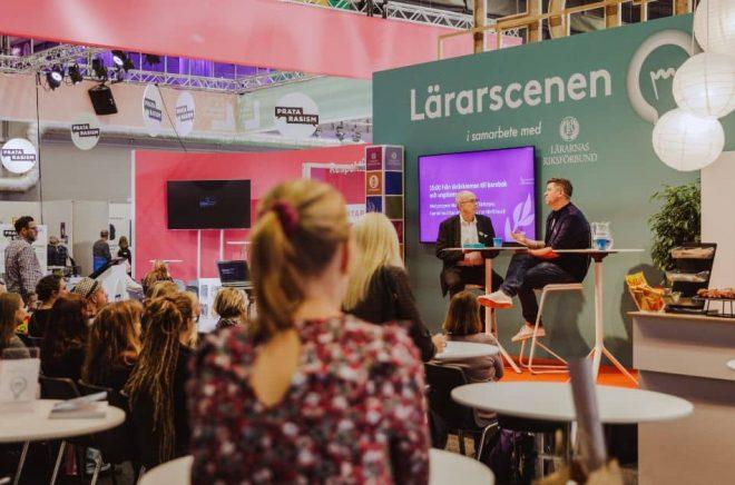 Lärarscenen på Bokmässan 2018. Foto: Natalie Greppi