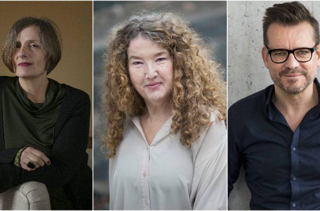 Susanna Alakoski (foto: Sara Mac Key), Anna-Karin Palm (foto: Ewa Stackelberg) och Bart Moeyaert (foto: Susanne Kronholm) är tre av de medverkande under första dagen på Bokmässan 2019.