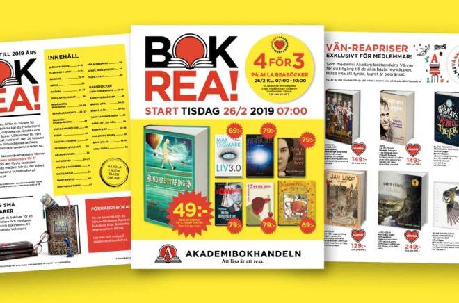 Snart dags för bokrea. Akademibokhandeln startar med ett erbjudande om 4 för 3 böcker kl 7 till 10 den 26/2. Foto: Akademibokhandeln