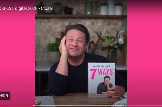 Jamie Oliver var ett av affischnamnen för BookFest under den digitala bokmässan i Frankfurt.