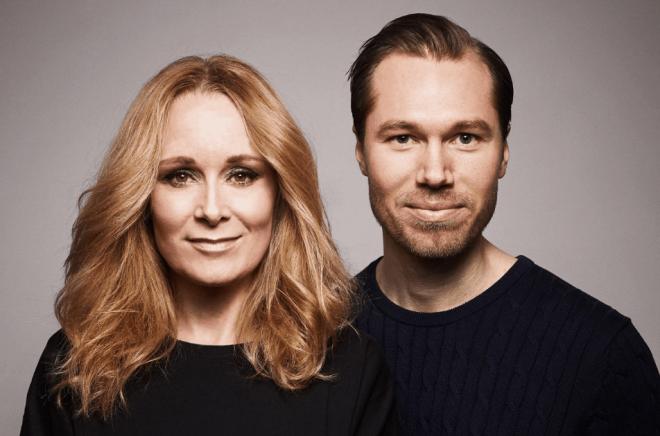Camilla Brinck och Maxim Kalmér, skaparna av Musse & Helium. Foto: Pressbild/Bonnier Carlsen