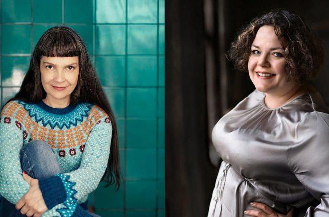 Cecilie Östby och Madeleine Gustafsson deckardebuterar på Storytel i maj. Foto: Rosie Alm/Maria Lindberg