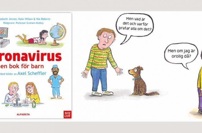 Alfabeta har i samarbete med Gruffalons skapare, den världsberömda illustratören Axel Scheffler, och det engelska bokförlaget Nosy Crow tagit fram en digital bok för barn om coronaviruset. Den kan laddas ner helt gratis.