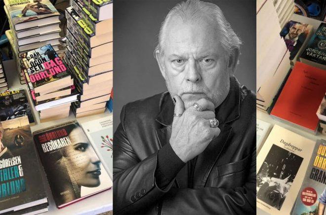 Författaren Dag Öhrlund skänker bort böcker till personal som jobbat med coronavård. Foto: Jan Dahlqvist/ jd_portraitphotos och privat.