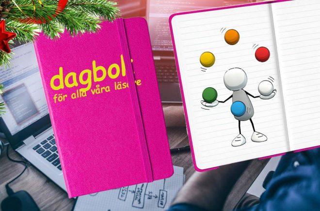 Dagbok för alla våra läsare, kallar vi 2020 års julkalender. Bilder: iStock. Montage: Boktugg.