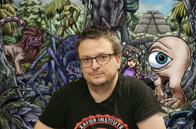 Daniel Lehto hoppas på en lyckad Kickstarter för Sagospelet Äventyr 4.0. Foto: Privat.