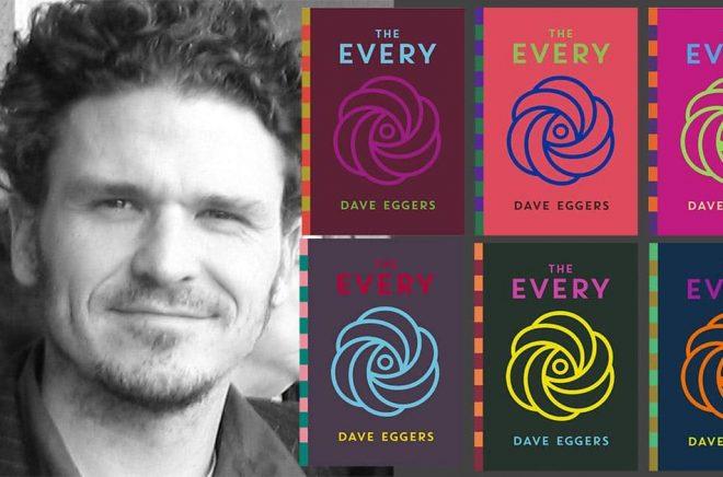 Författaren Dave Eggers ger ut inbunden bok med flera olika omslag som säljs exklusivt hos lokala indiebokhandlare. Foto: Michelle Quint. Montage: Boktugg.