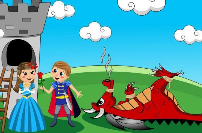 Vem som är draken och vem som är prinsen i sagan om Storytel och Bonniers beror på vem du frågar. Liksom ifall tornet är ett mindre förlag och prinsessan en författare. Illustration: canbedone/iStock.