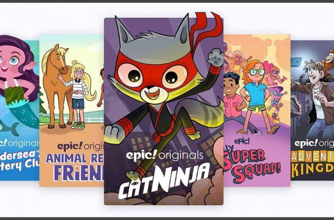 Läsplattformen Epic når 50 miljoner barn i USA, nu säljs plattformen till ett indiskt techbolag. Bild: Epic.