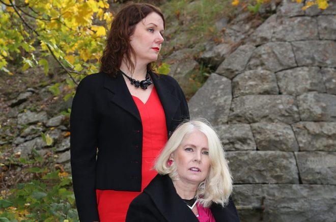 Eva Häggmark och Christina Öst. Foto: Lazze Öst