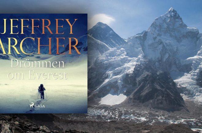Drömmen om Everest av Jeffrey Archer ska filmatiseras. Foto: iStock. Montage: Boktugg.