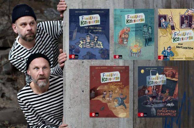 Anders Sparring och Per Gustavsson är de skyldiga bakom barnboksserien. Foto: Pressbild.