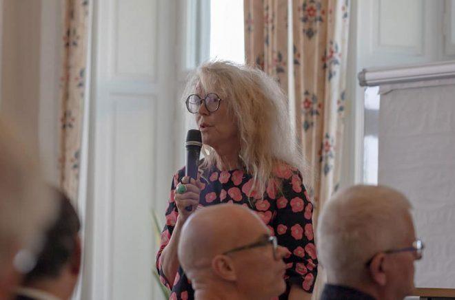 Grethe Rottböll, omvald till ordförande för Författarförbundet vid stämman 2019. Foto: Kristina Svensson.