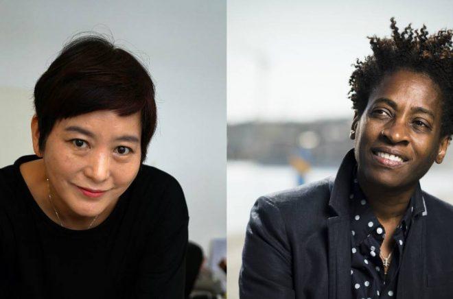 Baek Heena (foto: Privat) och Jacqueline Woodson (foto: Stefan Tell).