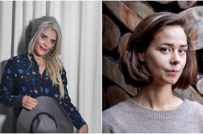 Ewa Fröling (foto: Malin Nerby) och Julia Ravanis (foto: Frida Winter) är två av författarna som gästar Höganäs Summer Book Festival 2021.