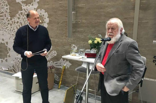 Ola Jönsson och Johnny Karlsson på Skissernas museum i Lund. Foto: Ingemar Lönnbom