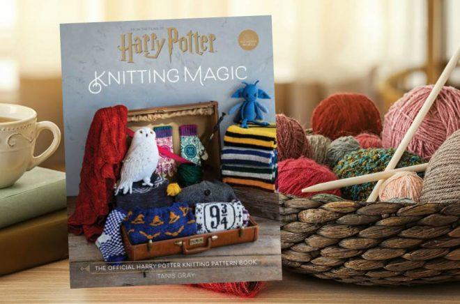 Nästa år kommer den officiella stickboken med Harry Potter-tema. Bakgrundsbild: Istock