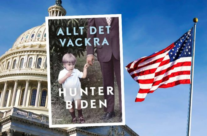 Hunter Bidens självbiografi ges ut i Sverige våren 2021 under titeln Allt det vackra. Bakgrund: Istock. Omslag: Polaris.