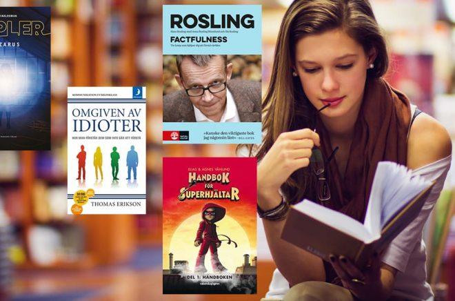De mest sålda böckerna i Sverige 2018. Bakgrundsfoto: iStock.