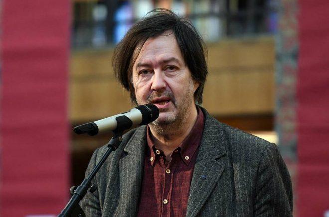 John Swedenmark på Poesimässan 2019, Stockholms stadsbibliotek. Foto: Johan Jönsson (via Wikimedia Commons)