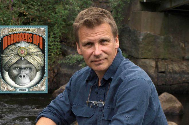Jakob Wegelius, författare och illustratör till Mördarens apa. Foto: Lena Sjöberg