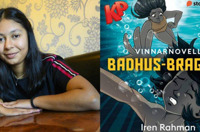 14-åriga Iren Rahman korades till vinnare i Storytels och KP:s novelltävling för sin novell Badhusbragden. Foto: Stefan Bohlin. Bild: Storytel