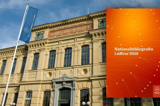 Kungliga Biblioteket i Stockholm. Här sammanställs Nationalbiografin med statistik över bokutgivningen i Sverige. Foto: Istvan Borbas. Montage: Boktugg.