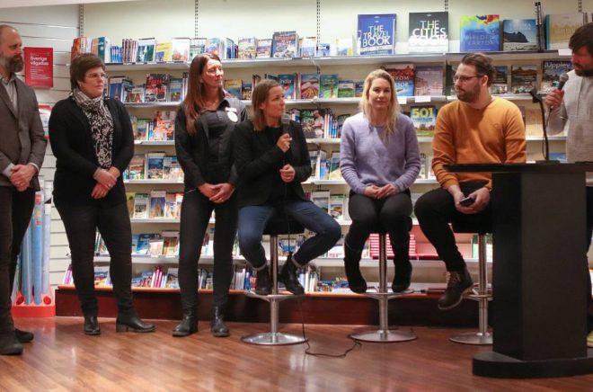 Vid presentationen av Läsliganpriset. Foto: Daniel Eriksson, Henson