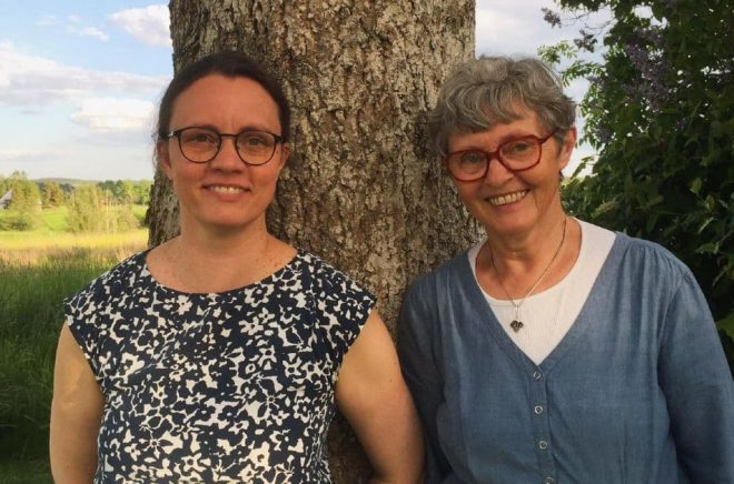 Lisa Holtti Claesson och Margareta Holtti. Foto: Privat