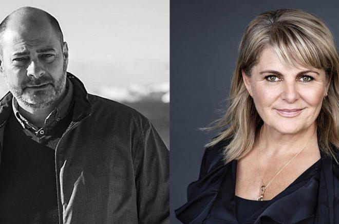 Mads Peder Nordbo och Sara Blædel