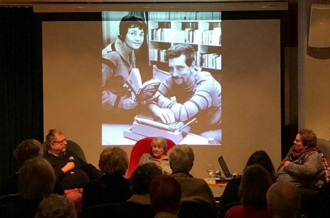 Michael Segerström, Maj Sjöwall och Jeanette Rosengren samtalade om Maj Sjöwalls liv och författarskap.