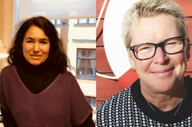 Matilda Berg och Helena Landberg har nya jobb på Volante och Gamla stans bokhandel. Foto: Volante samt privat