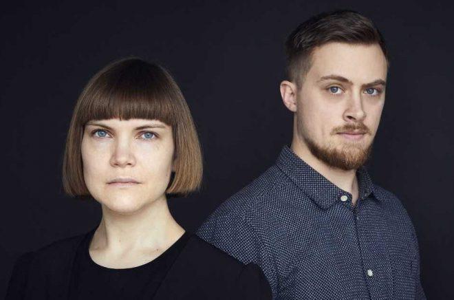 Sara Bergmark Elfgren och Emil Maxén. Foto: Henric Lindsten