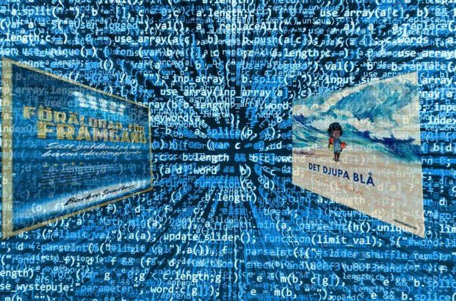 Metadata är långt mycket mer än omslag och baksidestext. Axiell Media gör nu en storsatsning på att förbättra metadata kring titlarna i sin katalog. Foto: iStock. Montage: Boktugg.