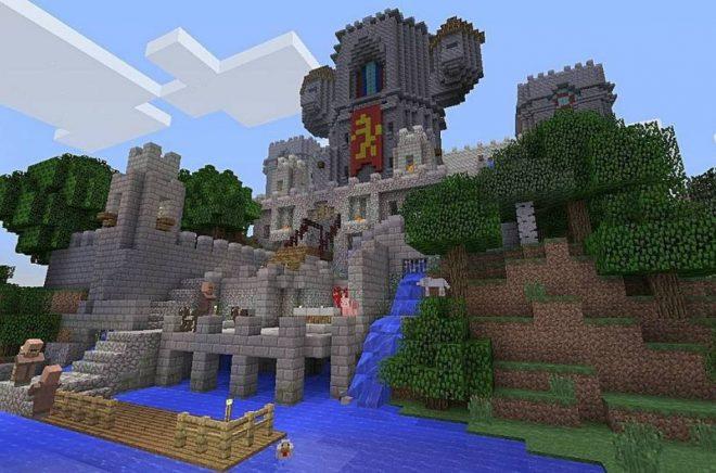 Scen från datorspelet Minecraft. Foto: Minecraft