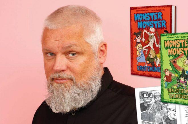 Johannes Pinter, författare till serien Monster monster. Foto: Egmont Publishing