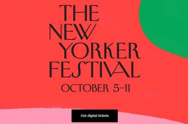 Den som vill studera ett påkostat digitalt event kan snegla på The New Yorker Festival.