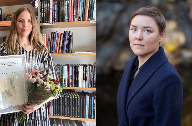 Författarna Linda Jones (foto: Daniel Åberg) och Pernilla Berglund (foto: Elin Berge) tilldelas Norrlands Litteraturpris 2020.