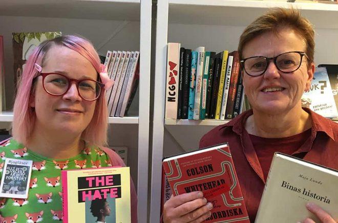 Paula Högström och Gudrun Wemming, Växjö Stadsbibliotek. Foto: Privat