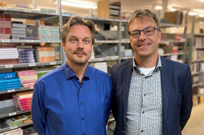 Peter Boqvist, VD och grundare av StjärnDistribution samt Pär Nilsson, ny kompanjon. Foto: Pressbild.