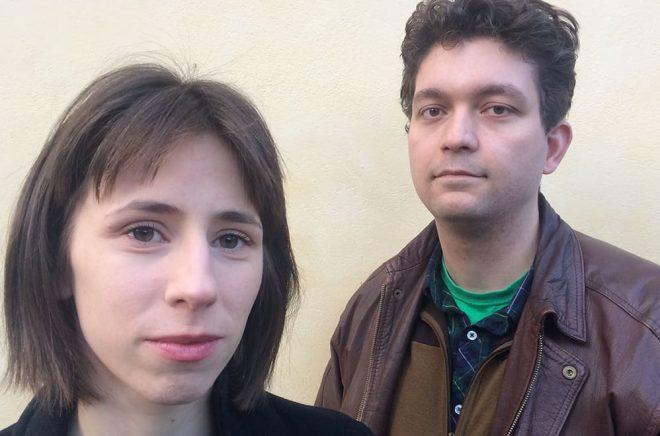 Hanna Stjernfeldt och Ludvig Köhler. Foto: Podpoesi Press