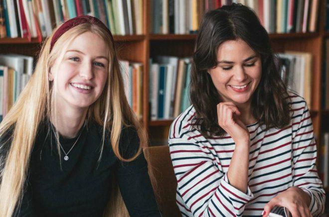Elisabeth Nilsson och Nora El Sharif står bakom podcasten Bokbranschen. Foto: Privat
