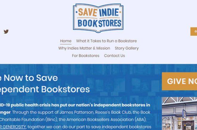Save Indie Bookstores är budskapet. James Patterson har själv skänkt pengar och uppmanar nu alla sina kollegor att göra detsamma.