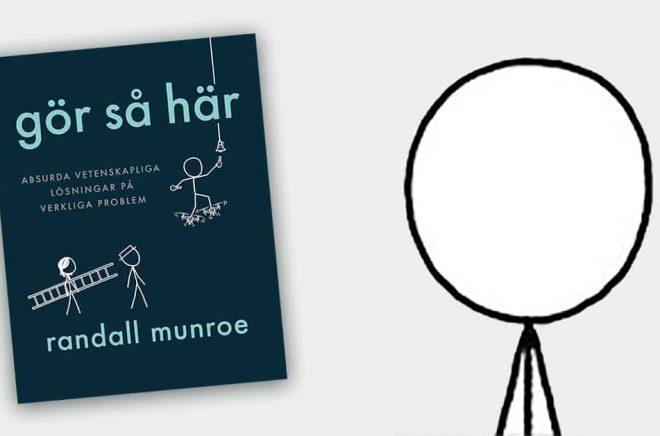 Randall Munroe är programmerare och serieskapare, framför allt känd som skapare av serien xkcd. Men han är även författare - dock utan författarbilder förutom detta självporträtt. Boken How to släpps hösten 2019, även på svenska.