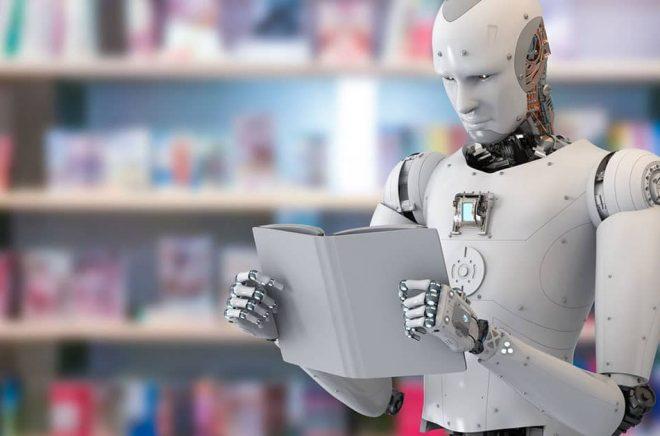 Robotar ersätter bokhandlare? Riktigt så här avancerad är inte den robot som tar emot kunderna i Beijing - men kanske är det nästa steg? Foto: Fotolia.