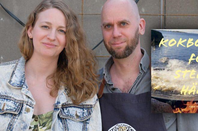 Sara Hallonsten och Oskar Ekman har skapat Kokbok för stekhäll som blivit en försäljningssuccé. Foto: Privat.